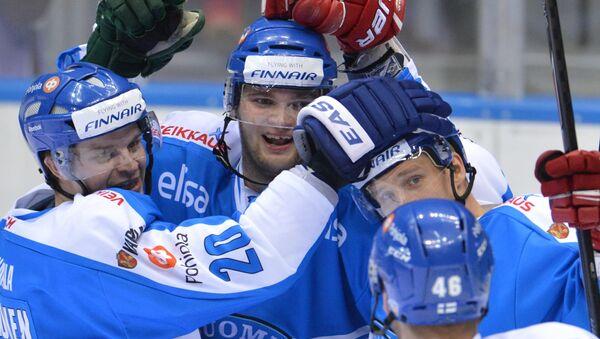Хоккеисты сборной Финляндии. Архивное фото