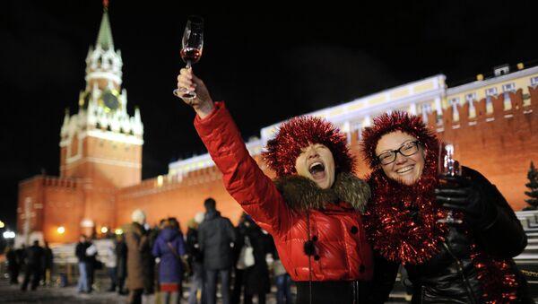 Празднование Нового года на Красной площади в Москве. Архивное фото