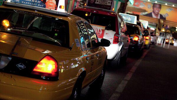 Такси на улице Лас-Вегаса