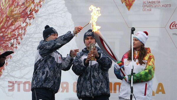 Зажжение олимпийского факела в Самаре. Фото с места события