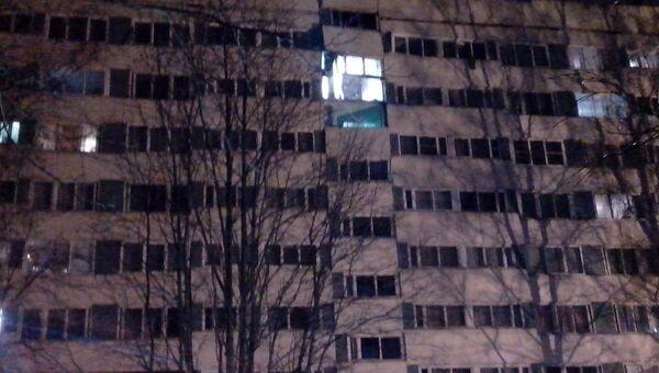 Дом по улице Ольги Форш в Петербурге после взрыва (фото со стороны двора)