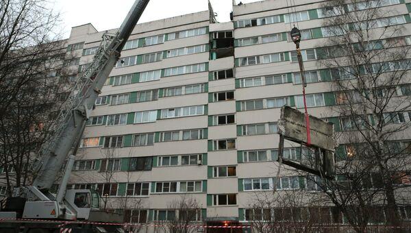 Дом по улице Ольги Форш в Петербурге после взрыва