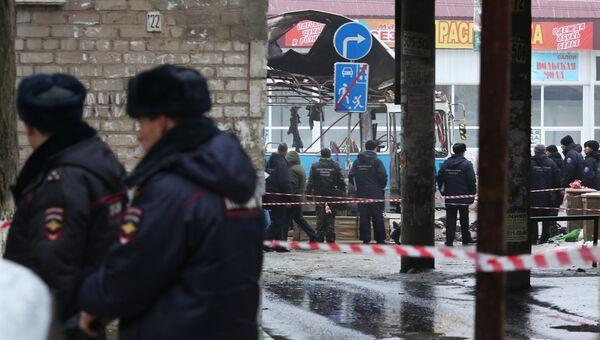 Взрыв в троллейбусе в Волгограде, фото с места события