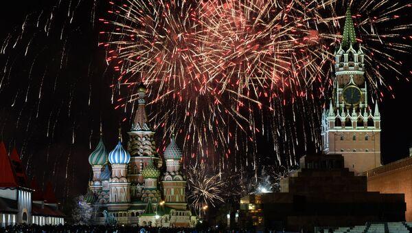 Празднование Нового года на Красной площади. Архивное фото