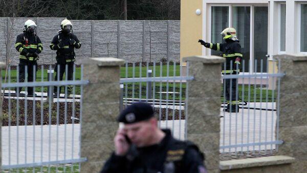 Взрыв в резиденции посла в Праге, архивное фото
