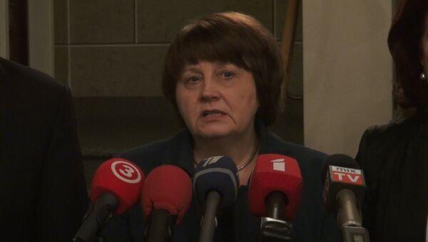 Утвержденный президентом кандидат на пост премьер-министра Латвии Лаймдота Страуюма