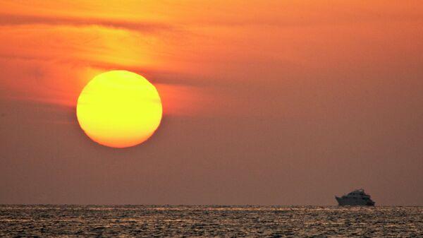 Восход солнца на Красном море в Шарм-эль-Шейхе