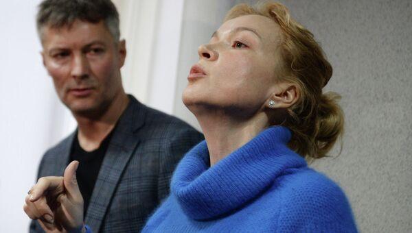 Бывший шеф-редактор информагентства Ура.ру Аксана Панова, обвиняемая в вымогательстве, во время оглашения приговора в Ленинском суде Екатеринбурга.