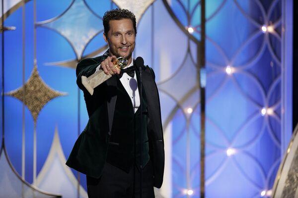 Американский актёр Мэттью Макконахи на премии Золотой глобус