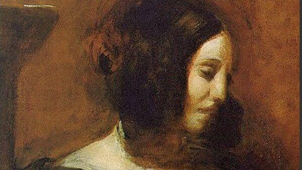 Эжен Делакруа. Портрет Жорж Санд. 1838