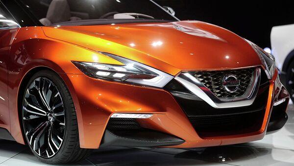 Автомобиль Nissan Sport Sedan Concept на автосалоне в Детройте. Архивное фото