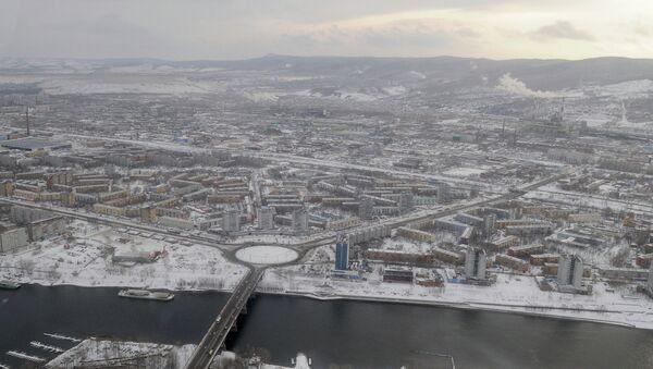 Красноярск, виды города, Коммунальный мост, архивное фото