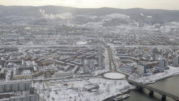 Красноярск, виды города, Коммунальный мост