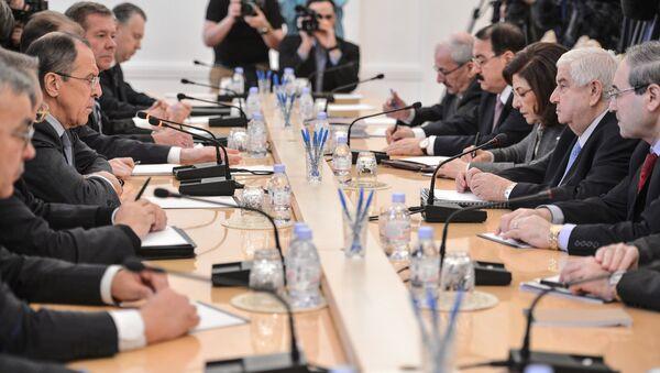 Встреча глав МИД России и Сирии