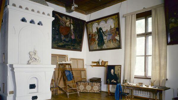 Мастерская в доме-музее Виктора Васнецова в Москве. Архивное фото