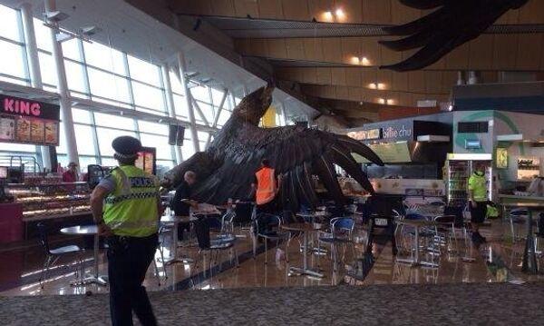 Гигантский орел из Хоббита в аэропорту новозеландской столицы. Фото с места события