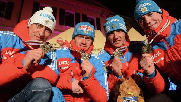 Александр Легков, Максим Вылегжанин, Евгений Белов и Сергей Устюгов (слева направо). Архивное фото