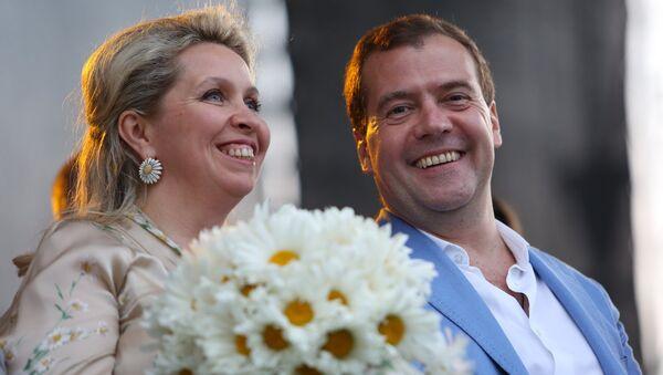 Дмитрий Медведев с супругой Светланой, архивное фото