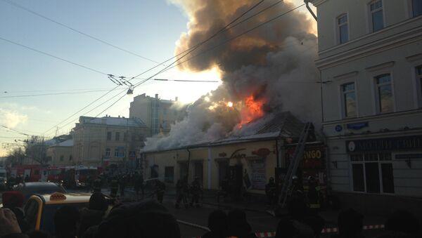 Пожар в кафе на Пятницкой улице. Фото с места события