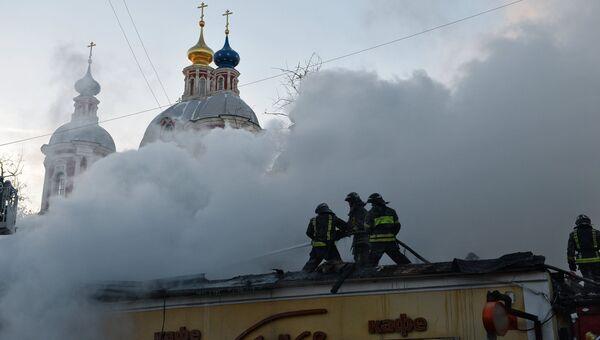 Пожар в ресторане на Пятницкой улице. Фото с места события