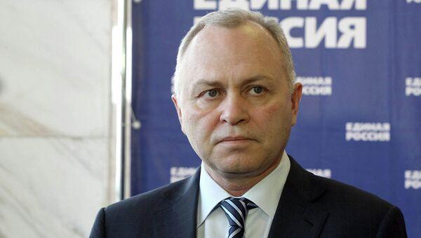 Владимир Знатков, кандидат от партии Единая Россия на выборах мэра Новосибирска. архивное фото