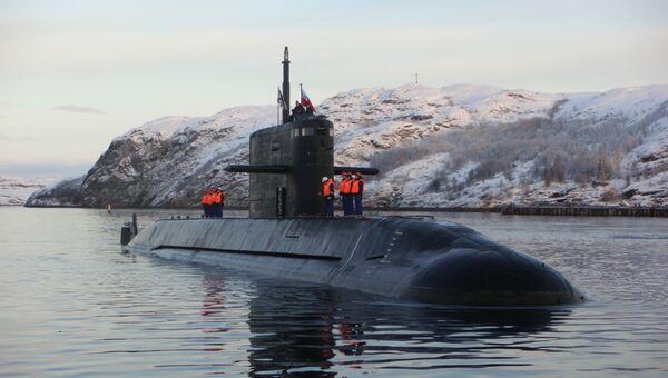 Головная подлодка проекта Лада (Санкт-Петербург), находящаяся в опытной эксплуатации на Северном флоте.