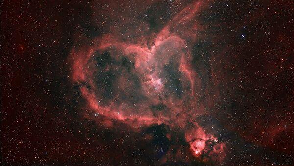 Туманность Сердце в созвездии Кассиопея