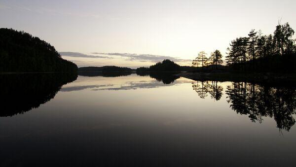 Закат в краю тысячи озер