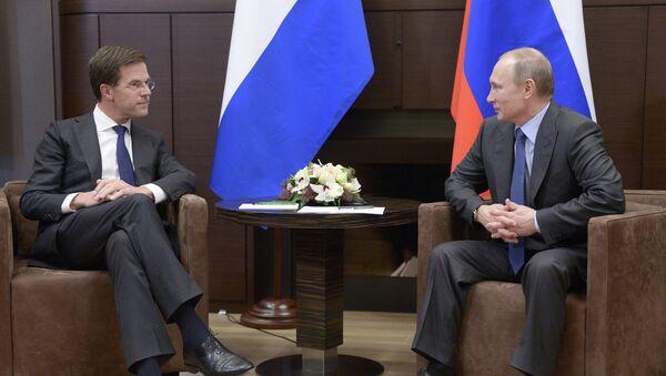 Встреча В.Путина с М.Рютте. Архивное фото
