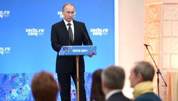 Прием президента РФ В.Путина в честь высокопоставленных гостей Олимпиады 2014