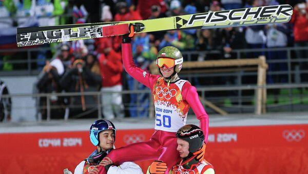 Олимпиада 2014. Прыжки с трамплина. Мужчины. Средний трамплин. Финал