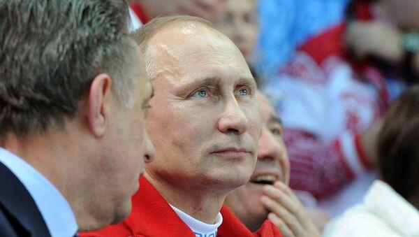 Владимир Путин посетил соревнования по фигурному катанию. Архивное фото