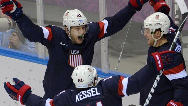 Хоккеисты сборной США на Играх в Сочи, архивное фото