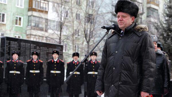 Иван Кляйн на митинге в память о погибших в афганской войне