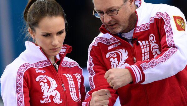 Анна Сидорова (Россия) и тренер Томас Липс (Россия)