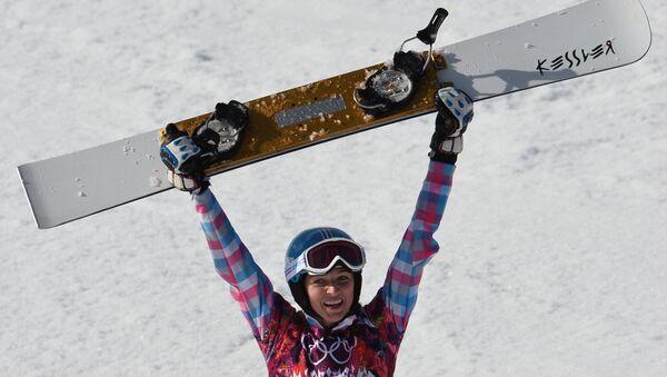Российская сноубордистка Алена Заварзина. Архив