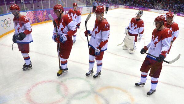 Олимпиада 2014. Хоккей. Мужчины. Финляндия - Россия. Архивное фото