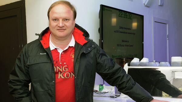 Российский спортивный менеджер, промоутер, организатор матчей профессионального бокса Владимир Хрюнов в Олимпийском парке