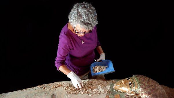 Испанские археологи обнаружили нетронутый деревянный саркофаг с мумией