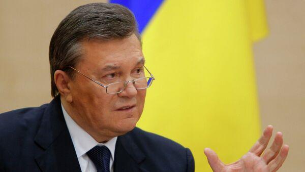 Виктор Янукович на пресс-конференции в Ростове-на-Дону