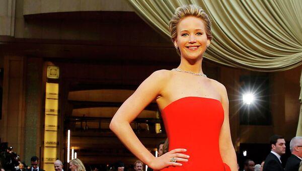 Американская актриса Дженнифер Лоуренс на 86-й церемонии вручения премии Оскар