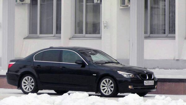 Автомобиль BMW 525i, от которого отказались депутаты городского совета Красноярска. Архивное фото.