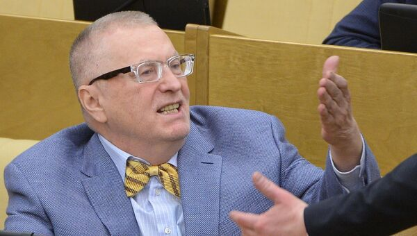 Лидер ЛДПР Владимир Жириновский на пленарном заседании Госдумы. Архивное фото