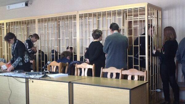 Приморские партизаны на судебном процессе во Владивостоке. Архивное фото