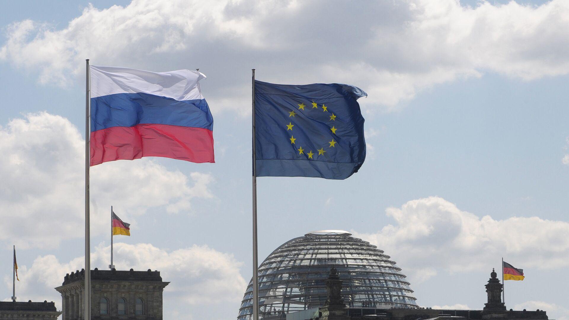 Флаги Германии, России и ЕС - РИА Новости, 1920, 27.09.2021