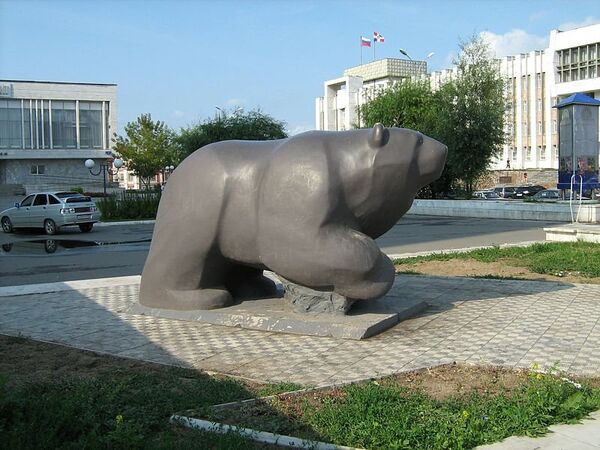 Скульптура Легенда о пермском медведе в Перми