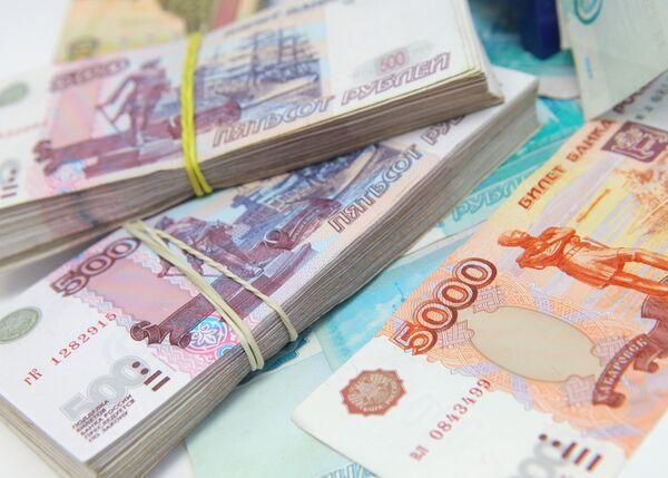 Рублевые купюры разного достоинства, деньги