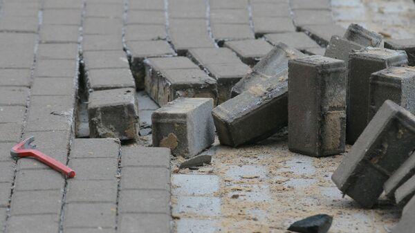 Замена тротуарной плитки