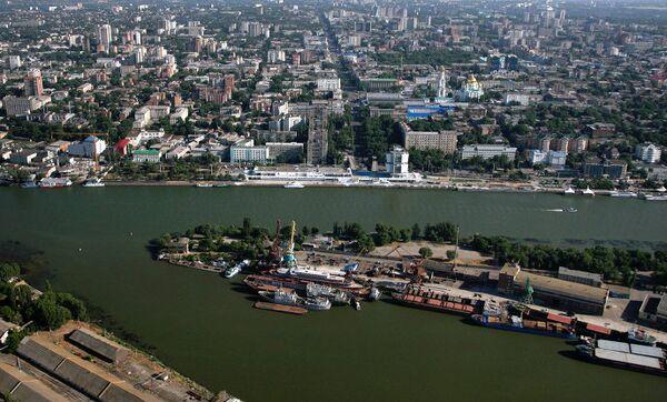 Река Дон в черте города Ростов-на-Дон