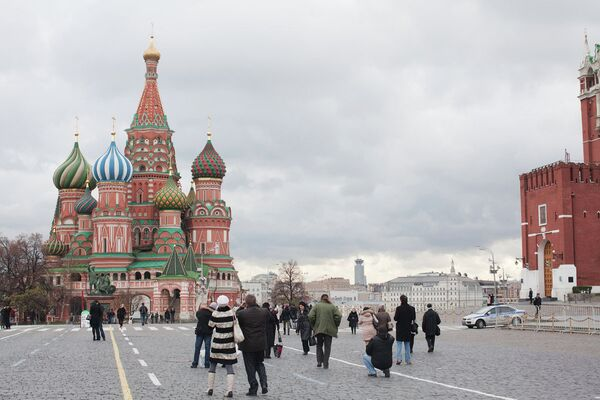 Панорама Красной площади в Москве